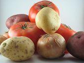 Potatoe, Onion & Tomatoe