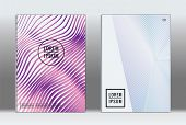 Vector Graphic Geometric Covers With Minimalistic Pattern For Templates, Layouts, Posters, Brochures poster