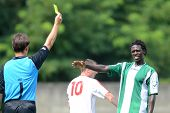 KAPOSVAR, HUNGARY - AUGUST 27: Attila Ereth (referee) in action at a Hungarian National Championship