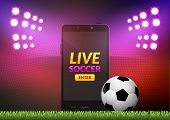 Mobile Football Soccer. Mobile Sport Play Match. Online Soccer Game With Live Mobile App poster