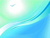 Light blue wavy background. Raster version. Vector version is in my gallery.