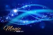 Blue Sparks And Stars Glitter Special Light Effect. Sparkling Magic Dust Particles.light Flare Speci poster