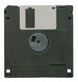 Black Diskette Isolated
