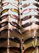 Sun Glasses On Stand