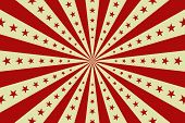 Circus Vintage Background, Vector Red Circus Retro Poster With Stars, Cartoon Carnival Wallpaper, St poster