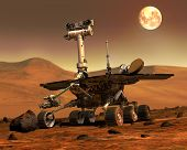 Mars Rovers Landed.elements Of This Image Furnished By Nasa. poster