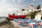 Mykonos Taverna And Church