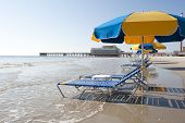 Lounges & Umbrellas On Daytona Beach