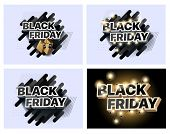 Set Of Vector Illustrations For Black Friday Sale. Collection Of Banners For The Sales Of Black Frid poster