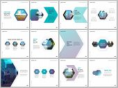 Minimal Brochure Templates With Colorful Hexagonal Design Background, Hexagon Style Pattern. Covers  poster