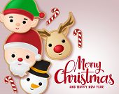 Christmas Gingerbread Cookie Vector Banner Template. Merry Christmas Typography Greeting With Ginger poster