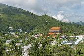 Chinese Temple Po Lin Monastery In Lantau Island, Hong Kong poster