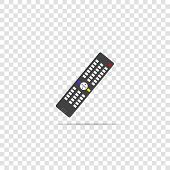 Vector Illustration Of A Remote Control. Remote Triggering Device Icon On Transparent Background. La poster