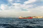 Tanker ship in Istanbul