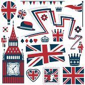Постер, плакат: Великобритания элементы