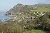 picture of hangman  - Hangman Point and Combe Martin Beach Devon - JPG