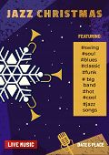 Template Design Poster Christmas Jazz. Design Idea Live Jazz Music Festival Show Flyer Promotion Adv poster
