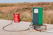Fuel Gauge At A Mobile Gas Station. Refueling Equipment At A Construction Site Or In The Field. Mini poster