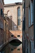 Venice, Italy. View Of Ancient Buildings And Narrow Canal In San Marco, District In Venice poster