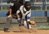 Baseball Catcher in Action