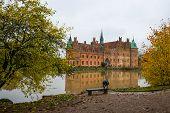 Egeskov, Denmark: Egeskov Castle Egeskov Slot Located In The South Of The Island Of Funen In Denmark poster
