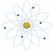 Illustration of atom structure on white - EPS VECTOR format also available in my portfolio.