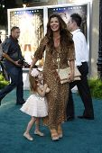 LOS ANGELES, CA - JULY 06:  Ali Landry; daughter Estella at the premiere of 'The Zookeeper' at the R