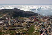 Ilulissat Seen From Above Flight From Kangerlussuaq To Ilulissat