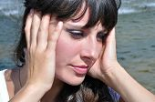 stock photo of dizziness  - heatstroke  - JPG
