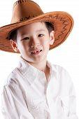Cute Asian Boy wearing hat