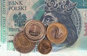 Polish money background