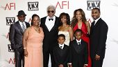 CULVER CITY - JUNE 9: Morgan Freeman and family at the 39th AFI Life Achievement Award Honoring Morgan Freeman held at Sony Pictures Studios  in Culver City, California on June 9, 2011.