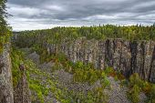 Hdr Image Of Ouimet Canyon In Early Autumn, Thunder Bay District, Northwestern Ontario, Canada poster