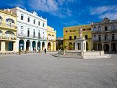 The Old Square, in spanish known as Plaza Vieja, a touristic landmark famous for its colonial archit