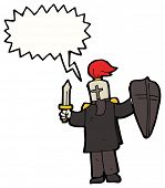 foto of arthurian  - black knight cartoon - JPG