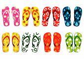 Conjunto de sandálias de praia