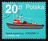 Postage Stamp Poland 1988 Strazak 11, Fire Boat