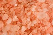 Closeup Of Pink Bath Salt