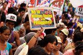 Protesto de dia internacional da mulher em Manila, Filipinas