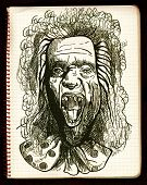 picture of dread head  - An hand drawn illustration - JPG