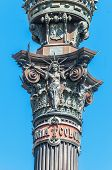 pic of christopher columbus  - Christopher Columbus monument at the end of Ramblas street in Barcelona Spain - JPG