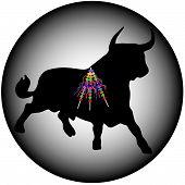 Black Bull mit banderillas