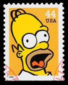 Simpsons Tv Show Postage Stamp