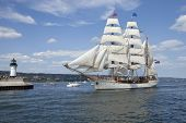 The Tall Ship Europa Entering Duluth Harbor