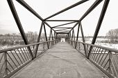 Sepia Trestle Bridge