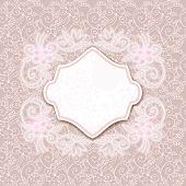 Cartão retro com ornamentos florais sem costura