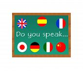Chalkboard with text Do you Speak