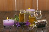 image of diffusion  - Spa concept with with aromatic lavender - JPG
