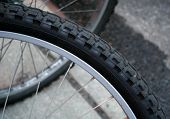 Bicycle Tire Abstract