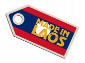 label with flag of Laos